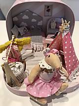 Hračky - Čarovný kufrík s myškou a teepee - 11248399_
