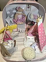 Hračky - Čarovný kufrík s myškou a teepee - 11248402_