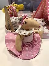 Hračky - Čarovný kufrík s myškou a teepee - 11249816_