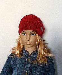 Detské čiapky - Tmavo cervena - 11249091_