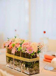 Kytice pre nevestu - Zahalená v ružovom... - 11252116_
