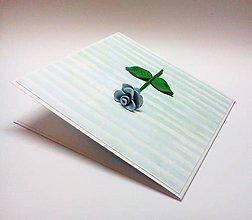 Papiernictvo - Pohľadnica ... modrá ruža - 11252656_