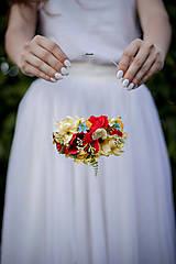 """Náhrdelníky - Náhrdelník """"lúka plná kvetín"""" - náhrdelníky-predaný - 11253587_"""