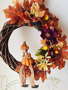 """Dekorácie - Jesenný veniec na dvere""""tekvičková jeseň""""- vence na dvere - 11252160_"""