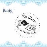 Nezaradené - Pečiatka EX LIBRIS rybky - 11250555_