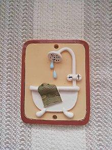 Dekorácie - Kúpeľňa - tabuľka na dvere - 11251316_