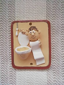 Dekorácie - Toaleta- tabuľka na dvere - 11251690_
