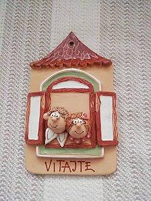 Dekorácie - Vitajte - tabuľka na dvere - 11252670_