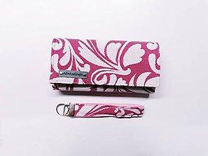 Peňaženky - Priehradková peňaženka zo scrapu Lenny Lamb Twisted Leaves + kľúčenka grátis - 11253765_