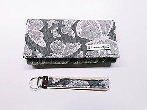 Peňaženky - Priehradková peňaženka zo scrapu Baby Monkey Butterfly Poppy + kľúčenka grátis - 11253773_