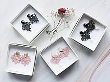 Náušnice - Náušnice s čipkou a perličkou. Staroružové - 11254367_