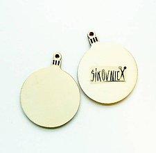Polotovary - Výrez z preglejky - vianočná guľa, 5 cm - 11251111_
