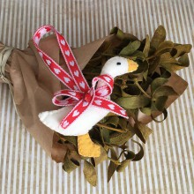 Dekorácie - Vianočná ozdoba húska - 11252230_