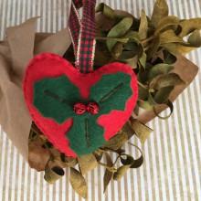 Dekorácie - Vianočná ozdoba srdce - 11252267_