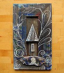 Obrazy - Dom s modrými motýľmi - 11253181_