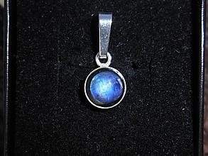 Náhrdelníky - mesačný kameň-blue full moon-silver - 11251278_