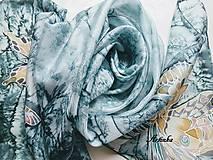 Šály - Hodvábny šál - motýle v búrke  - 11251788_