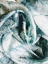 Šály - Hodvábny šál - motýle v búrke  - 11251795_