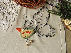 Dekorácie - Vtáčik - 11253458_