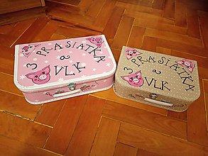 Hračky - bábkové divadlo v kufríku (30cm x 20cm - Béžová) - 11254180_