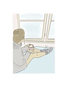 "Grafika - Ilustrácia ""Zimný Hygge deň"" - 11254427_"