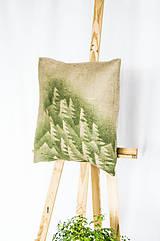 Úžitkový textil - Jutový dekoračný vankúš - Les - 11250865_