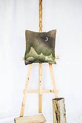 - Jutový dekoračný vankúš - Mesačné hory - 11250903_