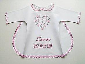 Textil - Krstná košieľka - ružová - 11253056_