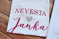 Tričká - Svadobné tričko pre nevestu a ženícha - 11253960_