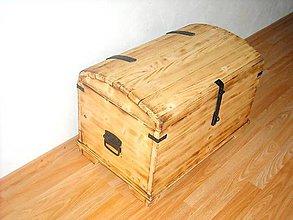 Nábytok - Drevená truhlica (Čierno-biela) - 11251497_