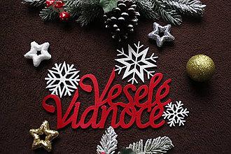 Polotovary - Výrez veselé vianoce - 11253408_