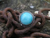 Prstene - Strieborny prsteň Ag 925 Larimar - 11250409_