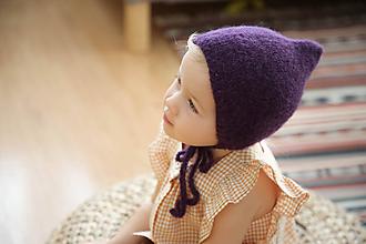Detské čiapky - Fialová Alpaka - 11252403_