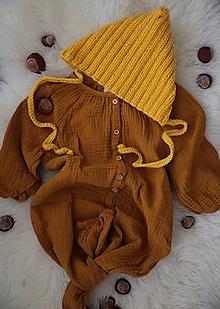Detské čiapky - Žltý trpaslík - 11252505_