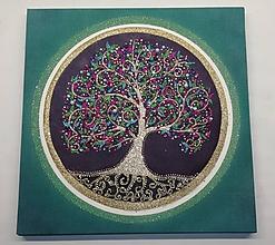 Obrazy - Strom života z piesku a kamienkov 40x40cm - 11252187_