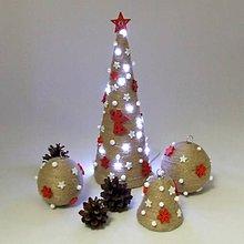 Dekorácie - AFRODITA - vianočná dekorácia - stromček červený - 11250274_