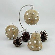 Dekorácie - ORION - vianočná dekorácia - gule a zvonček - 11250285_