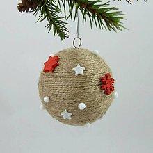 Dekorácie - AFRODITA - vianočná dekorácia - gule a zvonček (priemer 6,5 cm) - 11250301_