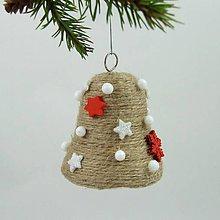 Dekorácie - AFRODITA - vianočná dekorácia - gule a zvonček (zvonček 6,5 x 6,5 cm) - 11250319_