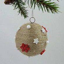 Dekorácie - AFRODITA - vianočná dekorácia - gule a zvonček (guľa ø 7,5 cm) - 11250331_