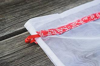 Iné tašky - ecovreco lístky (Červená) - 11254108_