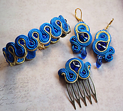 Sady šperkov - Šujtášový set Blue World - 11253121_