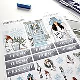 Drobnosti - Winter Time (samolepky) - 11251800_