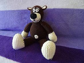 Hračky - Háčkovaný medveď - 11253450_