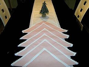 Úžitkový textil - Vianočná sada behúň + prestieranie II - 11253542_