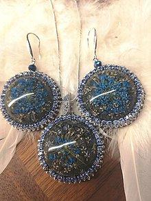 Sady šperkov - Zo zamrznutej záhrady, set modrý - 11252197_