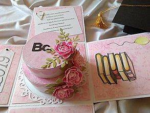 Papiernictvo - Gratulačná krabička Promócie - 11250823_