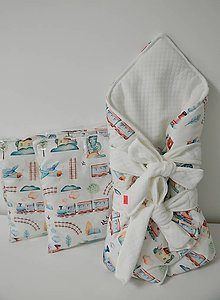 Textil - set zavinovačka, vankúšik - 11251888_