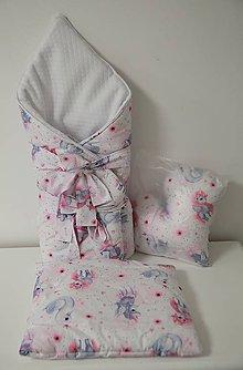 Textil - set zavinovačka a dva vankúšiky - 11251923_