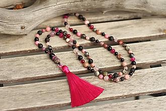 Náhrdelníky - Japa Mala náhrdelník z mixu minerálov - 11250911_